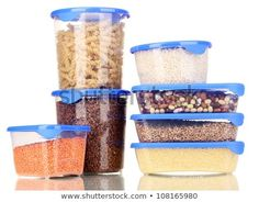Filled plastic containers isolated on white Vegan Budget, Food Storage Boxes, Frozen Pizza, Vegan Shopping, Think Food, Eat Smart, Food Categories, Plastic Containers, Budget Meals