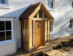 An oak framed porch can provide a welcoming entrance to your home, completely transforming its look and… Porch Gazebo, Porch Canopy, Porch Uk, House Front Porch, Front Porch Design, Cottage Front Doors, Cottage Porch, Porch Doors, Porch Entrance
