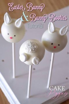 Easter bunny cake pop tutorial/ How to make cake pops with the children for Easter celebrations. Easter Cake Pops, Easter Bunny Cake, Easter Cupcakes, Easter Cookies, Easter Treats, Bunny Bunny, Cake Pop Designs, Cake Pop Tutorial, Desserts Ostern