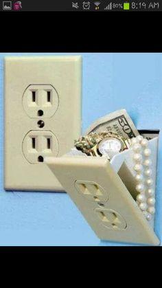 Creative hidden light switch cover