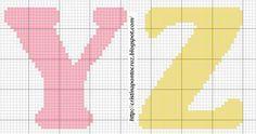 Alfabeto Y - Z letras