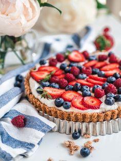Granola-Jogurttipiirakka eli Aamiaispiirakka (G) Great Recipes, Favorite Recipes, Most Delicious Recipe, Baking And Pastry, Breakfast Time, Something Sweet, Dessert Ideas, Granola, Sweet Tooth