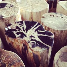 I visited Bali and brought back some beautiful petrified wood side tables. I have 3 for sale. Prices and sizes vary. The tables were hand-selected at a studio in Seminyak, Bali, and . Bali Furniture, Teak Garden Furniture, Hudson Furniture, Petrified Wood, Balinese, Teak Wood, White Wood, Cozy House, Wood Table