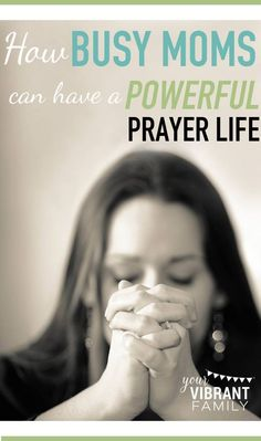 You want to pray more, but HOW does it happen when life is so chaotic? These 23tips will help youdiscover how YES you can have a powerful prayer life even as a busy mom. Learn 9 ways that prayer can change everything for your family, 2 things your prayer life must have; How to make prayer a priority even when you feel time-strapped; 6 incredible resources that give specific plans on how to pray for our husband and/or kids; What your prayer room can look like (video), and 6 ways to make can...