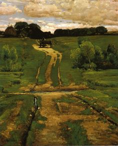 "Frederick Childe Hassam, ""A Back Road,"" oil on canvas, 1884. Collection of the Brooklyn Museum."
