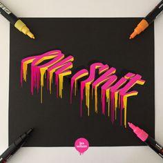 graffiti art Ending 2018 with another mind bending piece by Wie Zeichnet Man Graffiti, Graffiti Kunst, Graffiti Doodles, Graffiti Tagging, Graffiti Drawing, Street Art Graffiti, Graffiti Piece, Graffiti Artwork, 3d Artwork
