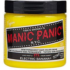 Electric Banana Yellow Manic Panic 4 Oz Hair Dye -- Check this awesome product by going to the link at the image. (This is an affiliate link) #HairColoringProducts