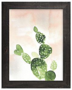 """""""Cactus at Sunset"""" - Art Print by Nikkol Christiansen in beautiful frame options and a variety of sizes."""