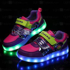 Chico Chica Zapatos PU Primavera Verano Otoño Invierno Confort Zapatillas  de deporte Cinta Adhesiva Para Deportivo Casual Negro Fucsia 4682d7f07d1