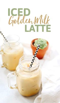 Have you ever tried an Iced Golden Milk Latte? Made with turmeric, ginger and cinnamon over iced, this golden beverage is a tasty and refreshing drink for summer!