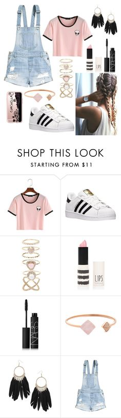 """""""Untitled #92"""" by jessica21-07 ❤ liked on Polyvore featuring adidas, Accessorize, Topshop, NARS Cosmetics, Michael Kors, Dorothy Perkins, H&M and Casetify"""