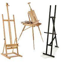 Fold up wooden artist easels