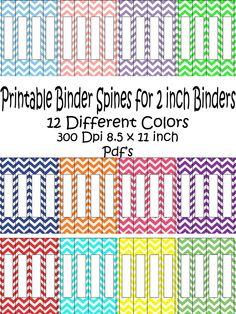 Binder Spine Inserts | Veranda | Organisation | Pinterest ...