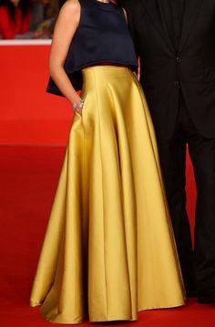 Long Gold Skirt High Waist Skirt Pleated Skirt Bridesmaid Dress Engagement Skirt Wedding Skirt Prom Dress Formal dress for woman Long Gold Skirt, Long Skirt Formal, Long Maxi Skirts, Satin Skirt, Pleated Skirt, Dress Skirt, High Waisted Skirt, Waist Skirt, Formal Dresses For Women
