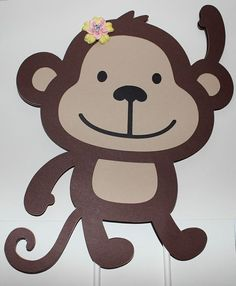 Girl Monkey Cake Topper by TickledPinkImpress on Etsy, $12.00