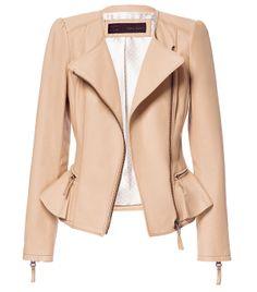 New Arrival 2013 Winter-Autumn Women Fashion Brand Za** Ladies Flounced Folds Motorcycle PU Leather Jacket Short Coat Outerwear $60.00