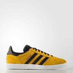 online store 58821 c2c4b New adidas Originals GAZELLE Collegiate Gold Black White superstar
