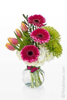 Spring Flower Arrangements   Spring vase of flowers by Petal Street Flower Company Florist in Pt ...