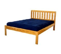 The Danforth II, made by The Bedworks of Maine in Golden Oak finish.