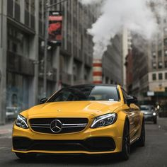 Yellow C63s 😈🔥 some taxis needed? 🚕: @csexy.3 📸: @mikebruno || @sf_media | @fastnexotic | @cars_in_zurich | @bmw_world_ua | @carfanaticsmagazine || #Speedfanatics #itswhitenoise #Mercedes #Benz #C63s #AMG