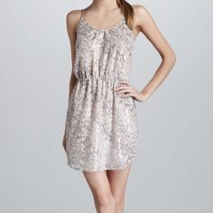 Rebecca Taylor leopard sequin dress This Rebecca Taylor is stunning and perfect for the Spring wedding season. It features tank style, elastic waist, leopard print and fully lined Rebecca Taylor Dresses Mini