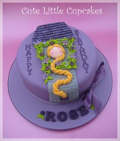 Tangled themed 8 Classic Chocolate cake x Disney Pinterest