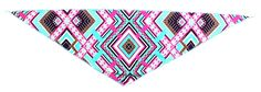 PZLE Pet Lovely Bibs Triangle Colorful Pattern Scarf Bandana for Puppies and Cat *** Trust me, this is great! Click the image. : Cat Collar, Harness and Leash