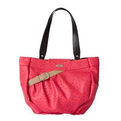 Loretta: ($34.95) This joyful Shell for Demi Miche Bags evokes good times, laughter and happiness. Bright poppy red ostrich faux leather is complemented by a plucky tan faux belt with silver buckle. Carrying Loretta will instantly brighten your day and liven up any neutral casual outfit. Side pockets. Streamlined design with oval bottom.