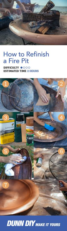 Are you wondering how to refinish your rusty fire pit? Have no fear, Dunn DIY is here with this fast, easy, and cheap fix that will have you back to crackling fires in no time!