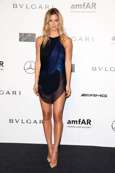 Bar Refaeli in a Stella McCartney mini dress