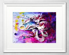 Check out this item in my Etsy shop https://www.etsy.com/uk/listing/280392606/exotic-fish-watercolor