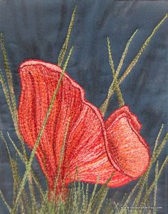 Thread Sketching in Action No 56 - Things that grow in the night - Toadstools - Deborah Wirsu Textile Artist