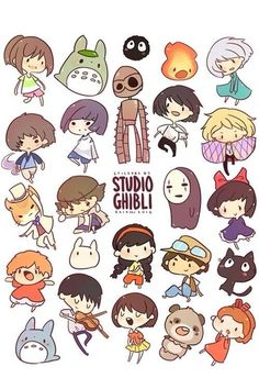Ghibli chibi.(I'm trying to figure out who's who.)