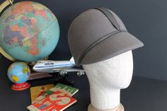 Vintage Neumann Endler Wool Womens Grey Hat Flight by Circa810, $25.00