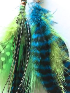 Earth Dream Grizzly Feather Earrings by earthdream on Etsy