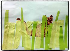 léopards, bricolage enfant, collage, animaux du zoo