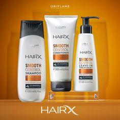 La línea Hair X Smooth Control contiene queratina hidrolizada, proteína que reestructura y suaviza el pelo después del primer uso, ¡protegiéndote del frizz por 72 horas! #OriflameMX #Cabello #Shampoo #Hair #Tip