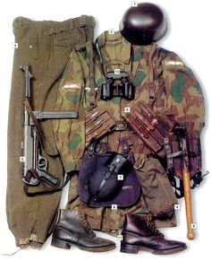 Fallschirmjäger - German paratroopers - WWII uniforms, equipment and gear. Luftwaffe, Paratrooper, German Soldiers Ww2, German Army, Military Photos, Military History, Army Uniform, Military Uniforms, Special Forces
