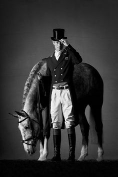 William Fox-Pitt by Mark Harvey www.mark-harvey.com  Dressage, Celebrity, Horses, WFP, Black & White, Refined, Portraiture. Uk Horse Photographer, Refined Equine Portraiture.