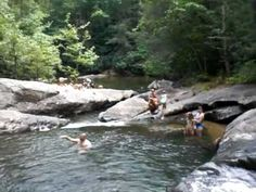 Dicks Creek is a favorite swimming hole near Dahonega, GA. Our guests love to visit this place during the hot summer months.