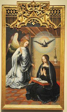 Juan de Flandes, The Annunciation, ca. 1500