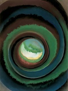 Georgia O'Keeffe,Pond in the Woods. Made in 1922,She lived in the 1940s. I Like it because its looks 3D