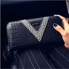 양 지갑 여성 긴 섹션 새로운 지퍼 지갑 패션 지갑 여성 지갑 카드 손 가방 전화 패키지 여성의 지갑