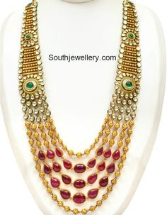 Indian Jewellery Designs - Page 45 of 1777 - Latest Indian Jewellery Designs 2020 ~ 22 Carat Gold Jewellery one gram gold Gold Jewellery Design, Gold Jewelry, Jewelery, Jewelry Sets, Gold Necklace, Necklace Designs, Indian Jewelry, Fashion Jewelry, Wedding Necklaces