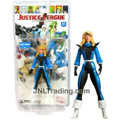 DC Direct Year 2008 Series 1 Justice League International 6-1/2 Inch Tall Figure - BLACK CANARY with Multiple Points of Articulation and Display Base