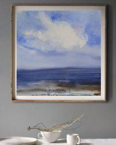 В интерьере #акварель #watercolorpainting #aquarelle #landscape #пейзаж #арт #артгалерея #artist #art  #artgallery