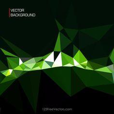 Black Green Polygonal Background Template Vintage Floral Backgrounds, Free Vector Backgrounds, Cool Backgrounds, Abstract Backgrounds, Background Templates, Background Patterns, Background Images, Background Designs, Vector Free Download
