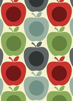 Motif Vintage, Vintage Patterns, Designers Gráficos, Impression Textile, Apple Prints, Pretty Patterns, Pattern Illustration, Grafik Design, Surface Pattern Design