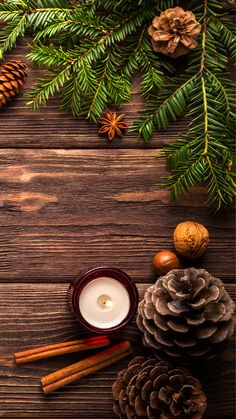Pinecone Candle Wood Holiday Phone Background by Blaise Marque - Phone Wallpapers Christmas Phone Wallpaper, Holiday Wallpaper, Illustration Noel, Illustrations, Cellphone Wallpaper, Iphone Wallpaper, Phone Backgrounds, Wallpaper Backgrounds, Christmas Mood