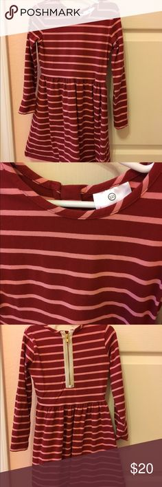 Hanna Andersson Elisabet dress Good condition, no holes or stains. Red with light pink stripes. Perfect holiday dress! Hanna Andersson Dresses Casual